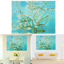 Blue Plum Tree Modern Abstract Huge Wall Art Spray Oil Painting Canvas(No Frame)
