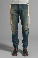 SCOTCH AND SODA BREWER MEN'S BLUE JEANS DENIM PANTS W/ SUSPENDERS SIZE 31W 32L!!