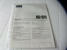 Sansui AU-D11 Owner's Manual  Operating Instructions Istruzioni New