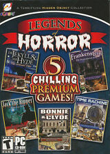 LEGENDS OF HORROR 5x Scary PC Games -Jack the Ripper, Frankenstein, Bonnie Clyde