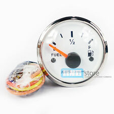 KUS Boat Analog Fuel Tank Level Gauge Indicator Dia 52mm S316 Stainless Steel