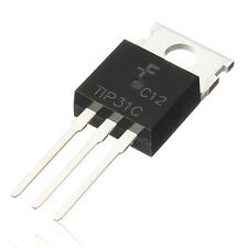 5 Pz TIP31C TIP31 TO-220 Silicon Plastic NPN High Power 100V 3A Transistor