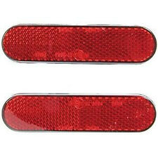 2PCS* MOTORCYCLE STICK ON NUMBER PLATE SELF ADHESIVE PAIR REFLECTOR RED ECE/DOT