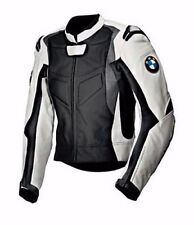 Men's Multicolor BMW Motorcycle Racing Biker Leather Jacket All SIZES