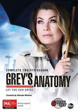 Grey's Anatomy : Season 12 (DVD, 2016, 6-Disc Set) R/4