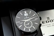 Edox Les Vauberts Big Date GMT 62003 Swiss Quartz Watch
