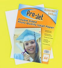 20 SHEETS A4 GLOSS 260gsm Instant Dry PRO-JET Glossy Inkjet Photo Paper - FAST!