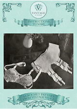 Vintage crochet pattern- how to make this 1930s crochet bra and suspender belt