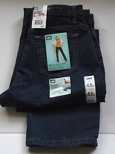 LEE 8S PREMUM DARK LADY'S JEANS RELAXED FIT STRAIGHT LEG FREE SHIPPING