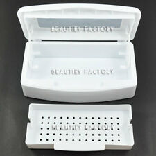 Nail Art Tool Sterilizing Tray Box Beauty Implement Salon Manicure Pedicure #117