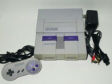 Super Nintendo SNES System Console Bundle, Controller, Cords Tested & Working