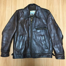 highwayman Aero leather 38 horsehide Motercycle jacket FQHH racer brown