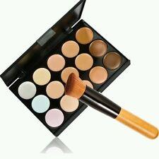Nuevo 15 Colores Contorno Maquillaje Rostro Crema Corrector Cepillo del polvo de alta calidad