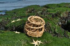 "small (9"" across the base) wicker lobster/ crab pot trap"