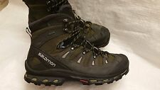 Salomon Men's Quest 4D 2 GORE-TEX Hiking Trail Boot Sz 12.5 373259 Green Asphalt