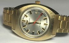 NOS 1970's Waltham Swiss Made Quartz Electrodyne Goldtone Watch