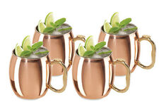 MOSCOW MULE MUGS SET OF 4 16oz HIGH QUALITY COPPER MUGS