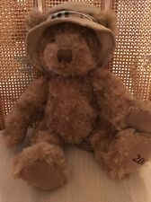"2006 Burberry Fragrances Teddy Bear Bucket Hat 12"" Plush Toy EUC"