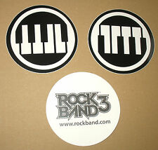 3 x Rock Band 3 promo Stickers Sticker Aufkleber