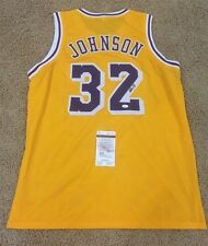 MAGIC JOHNSON SIGNED AUTO LOS ANGELES LAKERS JERSEY JSA AUTOGRAPHED