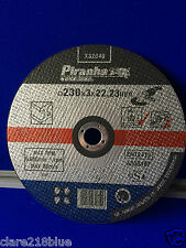 NEW Piranha B&D X32040 230 x 3 x 22 Bonded Abrasive Grinder Cutting Disc Metal