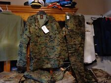 USMC MARPAT Uniform WOODLAND SET Combat Shirt Pant LARGE REGULAR LR NEW WITH TAG