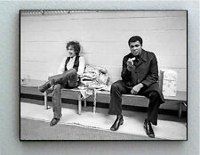 Rare Framed 1975 Muhammad Ali with Bob Dylan Vintage Photo. Giclée Print