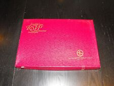 Vintage 1970 R.S.V.P.Three Dimensional Crossword Game Scrabble Selchow & Righter