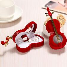 Mini Violin Jewelry Box Xmas Festival Xmas Ring Earring Gift Cases Storage
