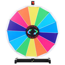 "24"" Editable Dry Erase Color Prize Wheel of Fortune Spin Game Trade Show Win"
