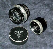 TWO ~ Wray 'SUPRA'  LENS VINTAGE PHOTOGRAPHY f 4.5