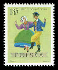 Scott # 1688 - 1969 - ' Costumes from Lower Silesia, Wroclaw ', Regional Costume