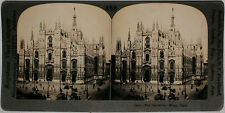 Keystone Stereoview of The Cathedral of Milan, ITALY from 1910's Education Set