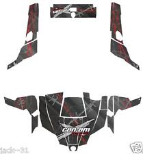 NG Racing WRAP QUAD CanAm Can am Commander 800r 800xt 1000 BARBED WIRE GREY