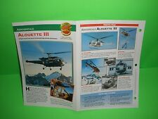 AEROSPATIALE ALOUETTE III AIRCRAFT FACTS CARD AIRPLANE BOOK 135