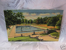 Garfield Park Swimming Pool Indianapolis Indiana 1940's  Old  Postcard