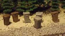 H-O Scale 12 Unfinished Garbage Cans  Model Train Detail Accessories