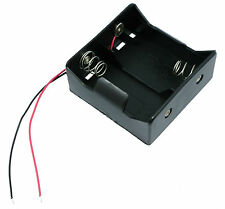 D x 2 Open Battery Holder Box 15cm Wires