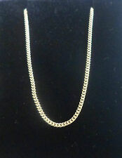 """9ct YELLOW GOLD fine STRONG CURB CHAIN necklace Ideal for pendants 18"""" NEW"""