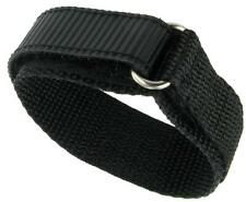 22mm standard length Premium Nylon Sports Watch Band Dive Surf Tuff Black NEW
