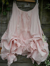 PLUS SIZE SLEEVELESS QUIRKY BALLOON PINK DRESS COTTON OVERSIZED PINAFORE FUNKY