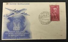 India-1953-Air Transport Nationalisation-FDC Special Cover with 1 A Saint & Poet