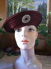 Vintage 1940's Fabulous Chic Brown Pearl design  HAT