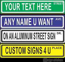 Custom Street Sign - Make Your Own Street Sign