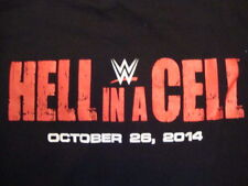 WWE World Wrestling Entertainment Hell In A Cell Crew 2014  Black T Shirt Size L