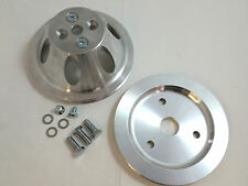 SB Chevy SBC 1 Belt Groove Short Water Pump Aluminum Pulley Kit W/ Bolts 283-350