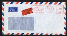 "West Germany: Airmail cover with 310pf meter mark; ""Durch Eilboten Expres"" label"