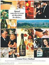 PUBLICITE ADVERTISING 095  1967  CREMENT  VEUVE OUDINOT  vin mousseux