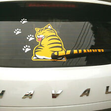 1*Funny Car Moving Cat Sticker Rear For Window Sticker Suitable Post Stall Wiper