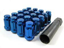 20 Pc Set Spline Tuner Lug Nuts 12x1.5 Blue for Hyundai Kia
